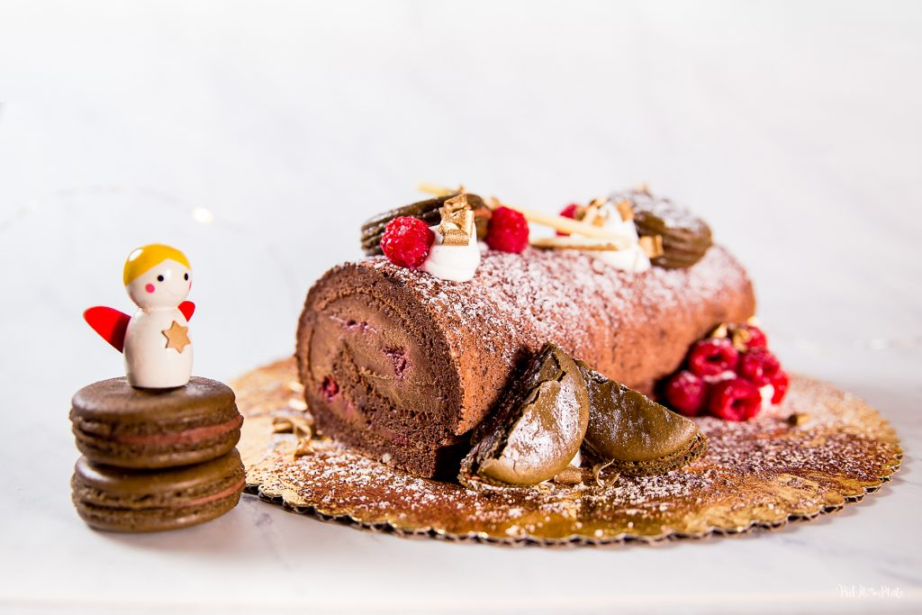 Cake Works Bakery - Raspberry Chocolate Yule Log